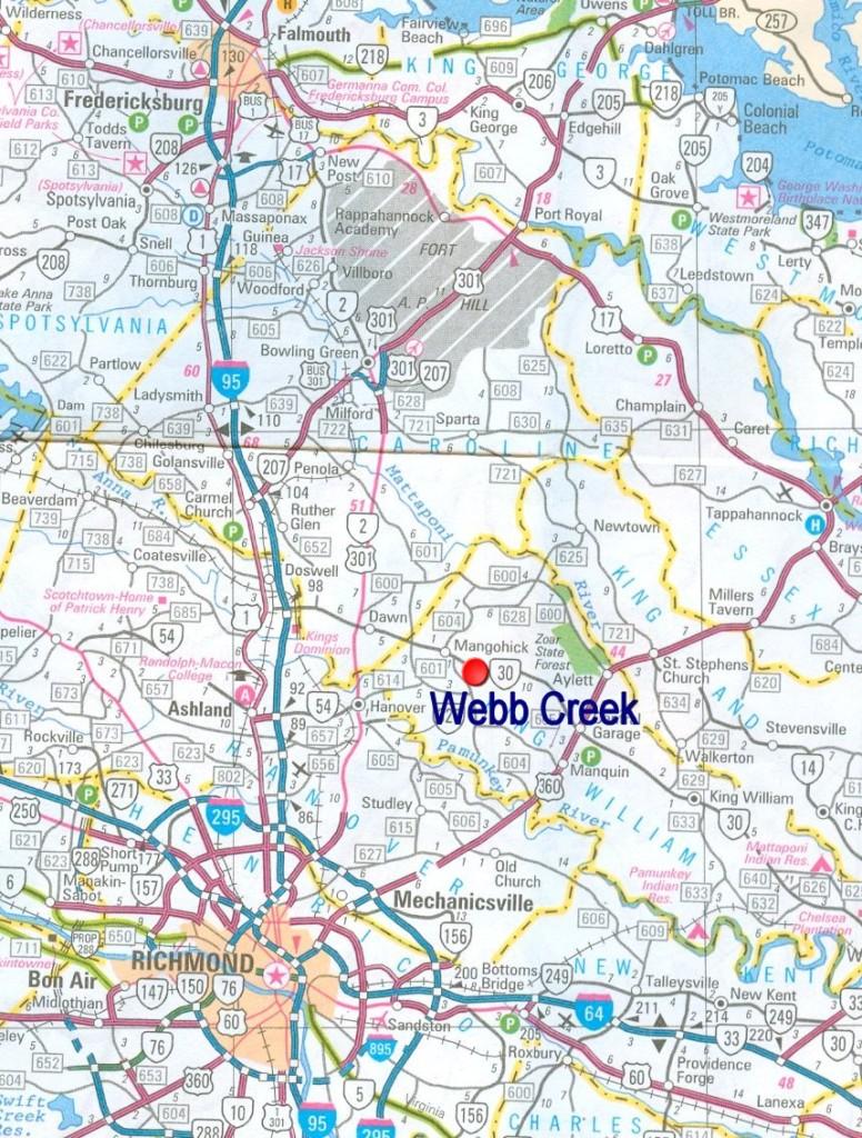 webb creek map